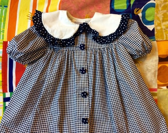 Blue Gingham Dress Girls 6