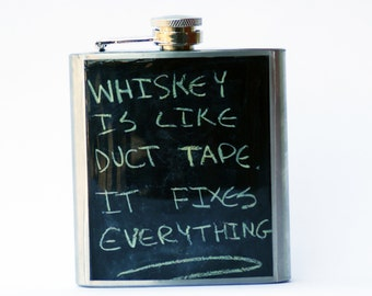 Hip Flask- Cool Groomsmen Gift- Whiskey Flask- Anniversay Gift- Gift for Him- Groomsmen Gift- Gift for Dad- Fathers Day Gift- Whiskey Gift