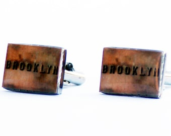 BROOKLYN CUFF LINKS- Brooklyn Bridge- gifts for him- men's accessories