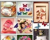 NEW YEAR SALE 25  - 3D  Butterflies, Dragonflies and Ladybugs