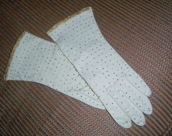 Vintage Long Beaded Gloves - Size 7