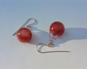 Best red bubble earrings