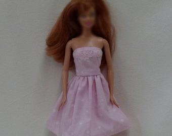 "Pink 11.5"" Fashion Doll Dress Handmade ready to mail"