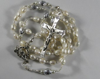 White Freshwater Pearl Rosary *FREE SHIPPING*