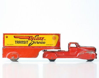 Vintage Toy Truck, Marx, Deluxe Transit Service