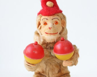 Vintage Monkey Toy with Maracas