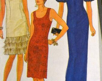 Vintage Sewing Pattern Simplicity 7001 Cocktail Dress Uncut  Complete Size 4-12 Bust 29- 34