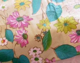 Color Love...Vintage 60s-70s Floral Cotton Fabric