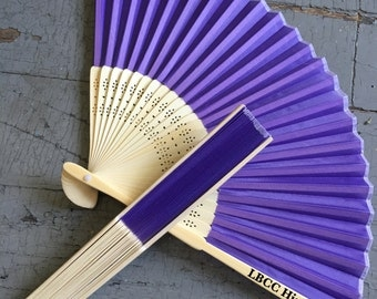 Lavender Silk Fan- Ready to Decorate