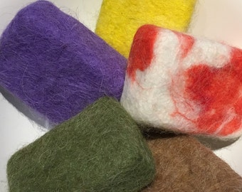 Felted Soap ONE bar Llama Lluffa