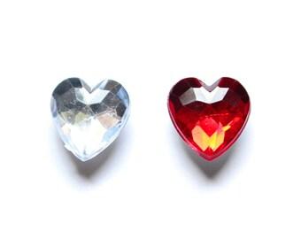 Magnets - Heart Shaped Jewel Magnets pack, Fridge Magnets, Unique Magnets