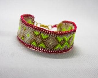 Neon Friendship Chain Bracelet