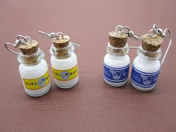 Your Choice of Lon Lon Ranch Milk Bottle Earrings Legend of Zelda Video Game