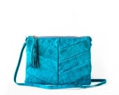 Two-way Clutch in Turquoise / Leather Clutch / Leather Clutch Bag / Envelope Clutch /Clutch Bag / Leather Purse / Clutch Purse