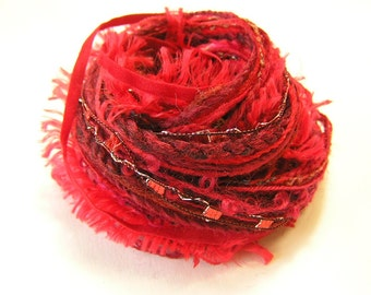 Variety Yarn Hank in a selection of reds