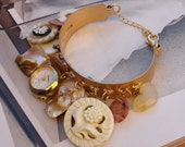 Mother Of Pearl/Watch/Charm Bracelet