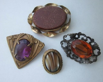 Jewelry DeStash 4 Vintage Brooches