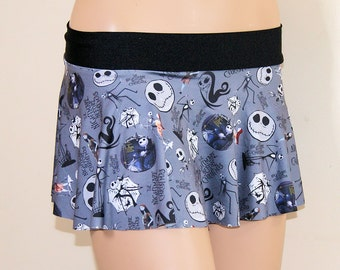 NMBC Jack and Sally Grey Circle Twirl Skirt Adult All Sizes- MTCoffinz