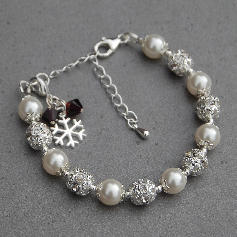 Personalised Snowflake Jewelry Birthstone Snowflake Charm