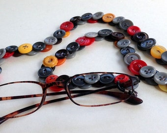Vintage Button Glasses Chain