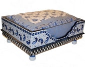 Blue Willow Hand-Painted Doggie Bed by Jakey BB