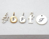 Initial Letter Charm Add-On | Add-on Charm for Susi D. Jewelry only | Cursive Letter | Typewriter Letter | Letter Disc | Silver or Gold
