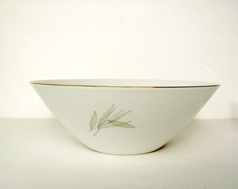 Vegetable Bowl Rosenthal Continental Grasses Mid Century Modern 9 Inch Bowl Neutral Delicate Line Drawings MCM