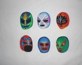 Mexican Wrestling Lucha Libre Masks Iron on Patches Applique DIY No Sew
