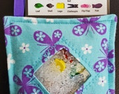 I Spy Bag - Mini with SEWN Word List and Detachable PICTURE LIST- Butterflies
