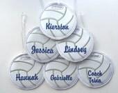 Personalized volleyball bag tag baseball, soccer, golf, softball, football, basketball name tag