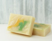 Coconut Lime Verbena Soap, Luxury Bath Soap, Cold Process Handcrafted Soap, Popular Scent -- Coconut Lime Verbena Soap