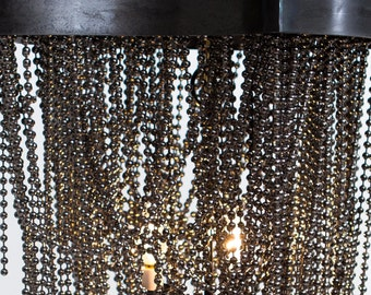 """Legends and Monuments; Iron& Bead Chandelier 24"""""""