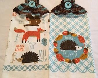 Hedgehog Happy Fall Y'All! Towels set of 2