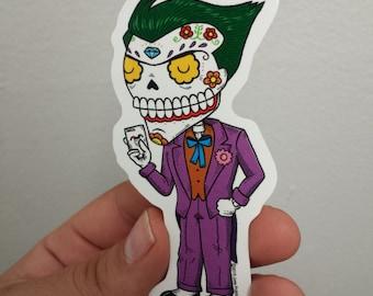 Joker Calavera Die Cut Vinyl Sticker