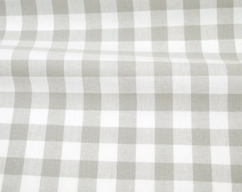 Half Inch Gingham in Linen Grey - from Checkers Woven Basics by Cotton + Steel Fabrics - fabric by the quarter yard