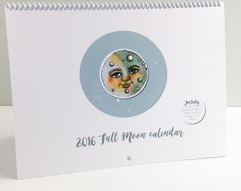 REDUCED PRICE FULL Moon and New Moon Creativity Calendar Spiral Bound With Original Illustrations
