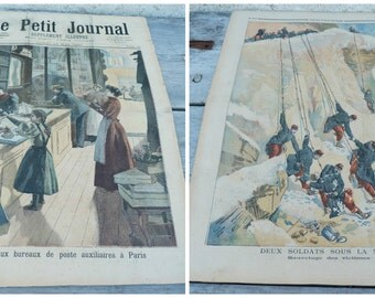 Vintage Antique dated French Issue news paper supplement Le petit journal May 1894