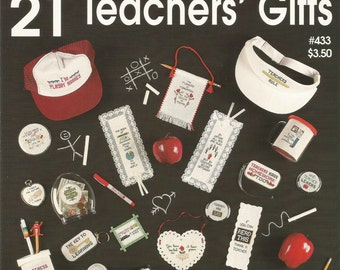 21 Teachers Gifts, Cross Stitch Patterns, One Nighters, Jeanette Crews Designs, Small Projects, 1996, Sewing Patterns, Sewing Supplies,gifts