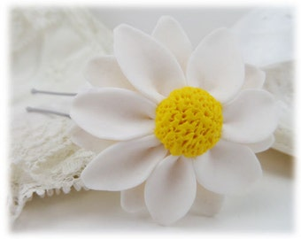Daisy Hair Clip Pin - More Colors Available