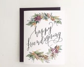Happy Friendsgiving ~ Watercolor Greeting Card