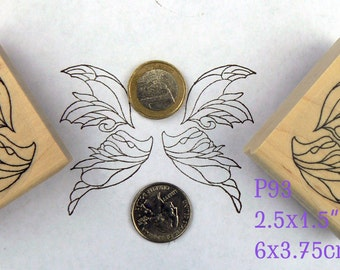 Decorative Angel wings rubber stamps P93