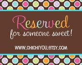Reserved for Carolyn