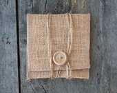 Pack of 10: Burlap USB Pouches