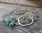 Flower Garden Necklace - Turquoise Green