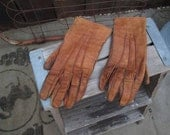 Dent's Make Gloves Vintage 20s Brown Leather Gloves Steampunk gloves Halloween Costume 7