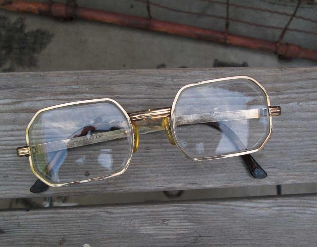 Vintage Gold Frame Glasses : 60s vintage Eyeglasses 12K gold filled Frame by funkomavintage