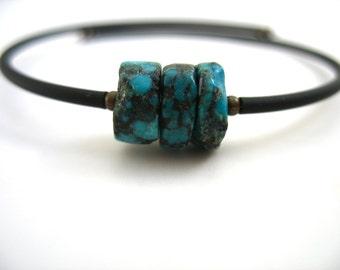 Turquoise Bracelet, Turquoise, Turquoise Handmade Stone Cuff  Bracelet, Gemstone Jewelry