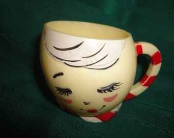 Vintage F&F Mold Die Works Inc Plastic Egg Cup Mug - USA