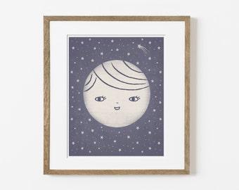 moon friend print