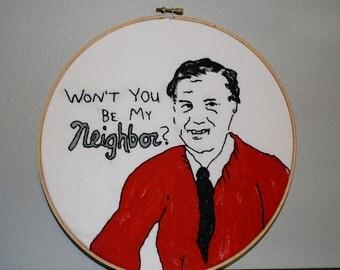 Won't you be my Neighbor? Needlework Sampler
